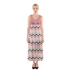 Maxi Dress   Chevron 01 Full Print Maxi Dress by CoolDesigns