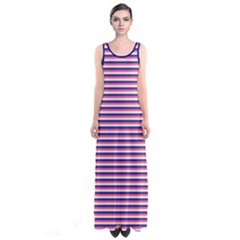 Pink Stripes Sleeveless Maxi Dress by CoolDesigns