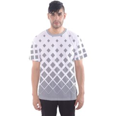 Light Gray Gradient Rhombuses Men s Sport Mesh Tee by CoolDesigns