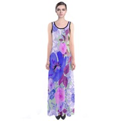Mintfloral Sleeveless Maxi Dress by CoolDesigns