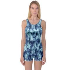 Dull Blue Tie Dye 2 One Piece Boyleg Swimsuit by CoolDesigns