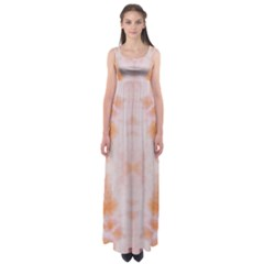 Orange Tie Dye Empire Waist Maxi Dress by CoolDesigns