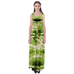 Olive Tie Dye Empire Waist Maxi Dress by CoolDesigns