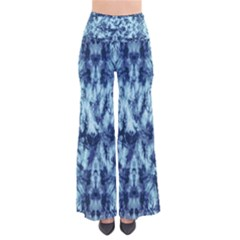 Dull Blue Tie Dye 2 Chic Palazzo Pants by CoolDesigns