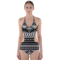 Dark Tribal Cut Out One Piece Swimsuit by CoolDesigns
