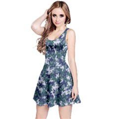 Blue 2 Camouflage Pattern Reversible Sleeveless Dress