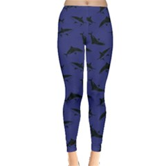 Navy Shark Leggings  by CoolDesigns