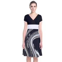 Marbel 2 Short Sleeve Front Wrap Dress by CoolDesigns