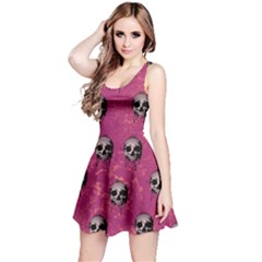 Hot Pink Skull Reversible Sleeveless Dress by CoolDesigns