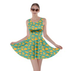 Ufo Yellow Skater Dress by CoolDesigns