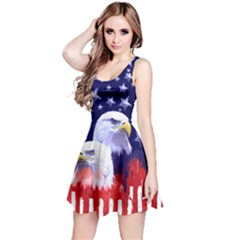 Us Eagle Navy Reversible Sleeveless Dress by CoolDesigns