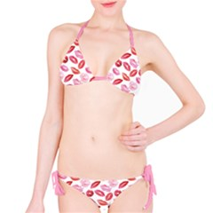 Pink Watercolor Lips Pattern Bikini Set by CoolDesigns