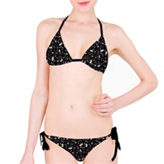 Black Handpainted Butterflies With Eyes Black And White Bikini Set by CoolDesigns