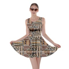 Brown Geometric Elements In The African Style Skater Dress by CoolDesigns