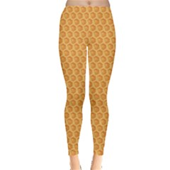 Yellow Colorful Honeycomb Women s Leggings by CoolDesigns
