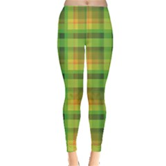 Green Green And Yellow Cell Women s Leggings by CoolDesigns