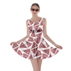 Pink Pizza Pattern With Different Ingredients Skater Dress