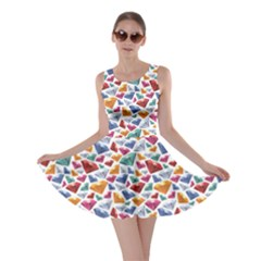 Colorful Colorful Diamond Gemstones On White Jewels Skater Dress by CoolDesigns