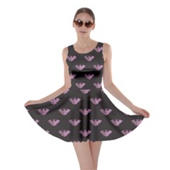 Black Bat Tile Halloween Pattern Skater Dress by CoolDesigns