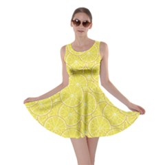 Green Lemon Slice Skater Dress by CoolDesigns