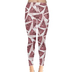 Pink Pizza Pattern With Different Ingredients Women s Leggings by CoolDesigns