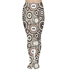 Brown Pattern Retro Circles Dots Pattern Women s Tights by CoolDesigns