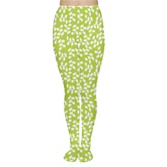 Green Floral Green Pattern Women s Tights by CoolDesigns
