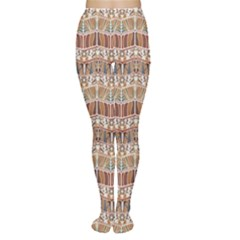 Brown Tribal Pattern In The African Style Women s Tights by CoolDesigns