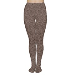 Brown Eather Patter Design Women s Tights by CoolDesigns