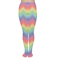 Colorful Rainbow Chevron Pattern Women s Tights by CoolDesigns