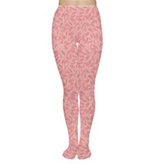 Pink Neutral Floral Ornament Plant Motives Pink Tone Use As A Fill Women s Tights by CoolDesigns