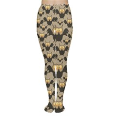 Brown Pattern With Owl Women s Tights by CoolDesigns