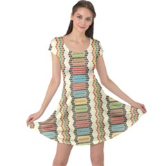 Colorful Ethnic African Beads Color Pattern Cap Sleeve Dress by CoolDesigns