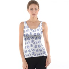 Blue Japanese Dragon Is Seamless Tank Top by CoolDesigns