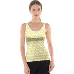 Yellow Pattern With Stylized Horses Tank Top by CoolDesigns