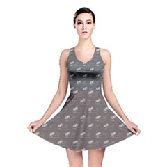 Black Whale Blackwhite Reversible Skater Dress by CoolDesigns