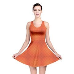 Orange National Chinese Pattern Chinese New Year Reversible Skater Dress by CoolDesigns