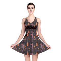 Colorful Pattern For Wines Menu Reversible Skater Dress by CoolDesigns