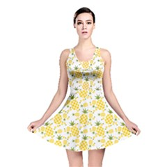 Yellow Pineapple Pattern Reversible Skater Dress by CoolDesigns