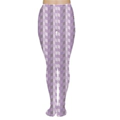 Violet Chevrons Pattern Retro Vintage Women s Tights by CoolDesigns