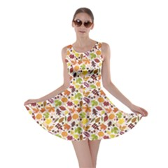 Colorful Pattern From Autumn Leaves Skater Dress by CoolDesigns
