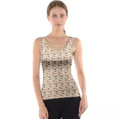 Brown Bird Pattern Tank Top by CoolDesigns