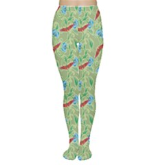 Green Butterfly Floer Pattern Tights by CoolDesigns