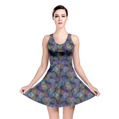 Dark Abstract Pattern Wallpaper And Design Reversible Skater Dress by CoolDesigns