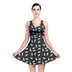Black Cockroaches On Black Pattern Reversible Skater Dress by CoolDesigns
