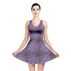 Blue Pattern With Stylized Insects Reversible Skater Dress by CoolDesigns
