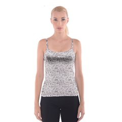 Gray Elegant Flowers In Bloom Fancy Spathetti Strap Top by CoolDesigns