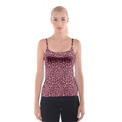 Purple Pink Leopard Texture Pattern Spathetti Strap Top by CoolDesigns