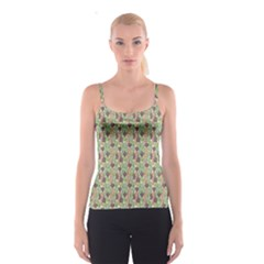 Colorful Abstract Decorative Pattern Endless Colorful Spathetti Strap Top by CoolDesigns