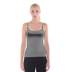 Black Pattern Black And White Spathetti Strap Top by CoolDesigns